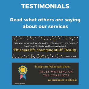 Testimonials for front page