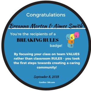 Breaking Rules badge Breanna and Aimee