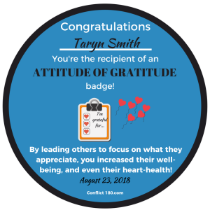 Gratitude Badge Taryn Smith