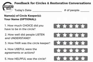 Circle Feedback Card with Circle Keeper Name