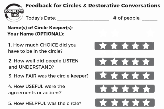 Circle Feedback Card with Circle Keeper Name