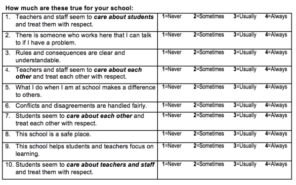 School Climate survey pic