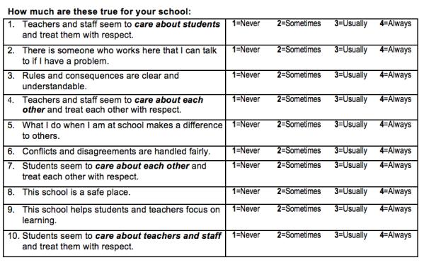 School Climate survey pic