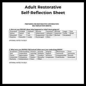 Adult Self Reflection