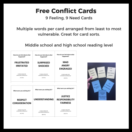 Conflict Cards Words