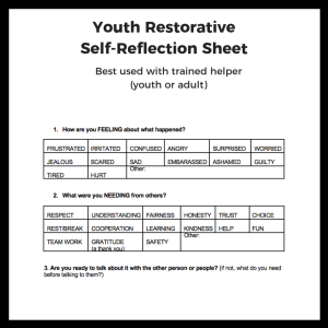 Youth Self-Reflection