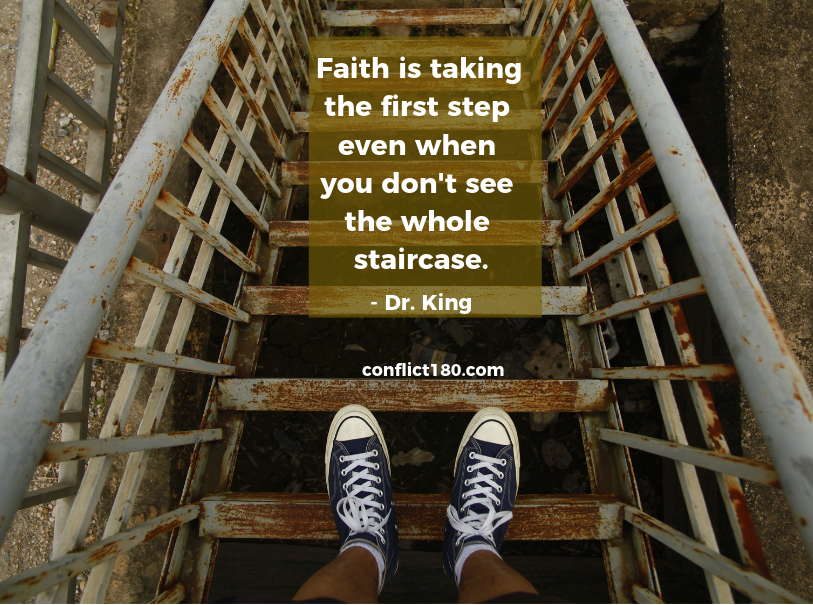 Faith is taking first step_King