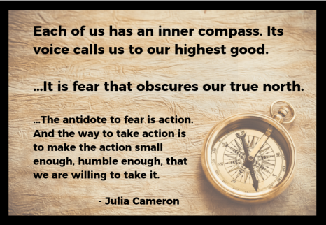 The antidote to fear is action